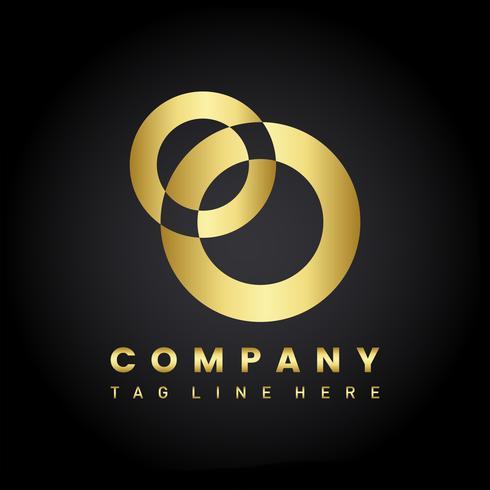 Vettore moderno di progettazione di logo della società