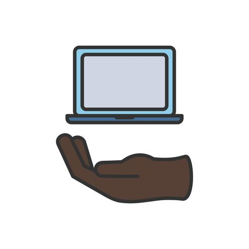 Illustration of computer laptop icon