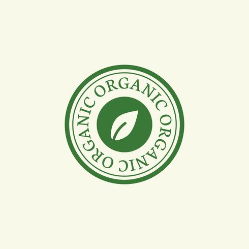 Organic stamp emblem badge illustration