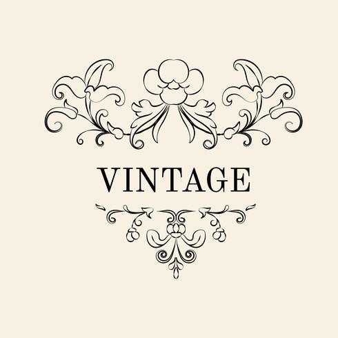 Ilustração de ornamento vintage florescer