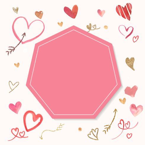 Ilustración de acuarela de icono de San Valentín