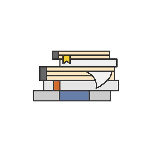 Illustration of a book stack