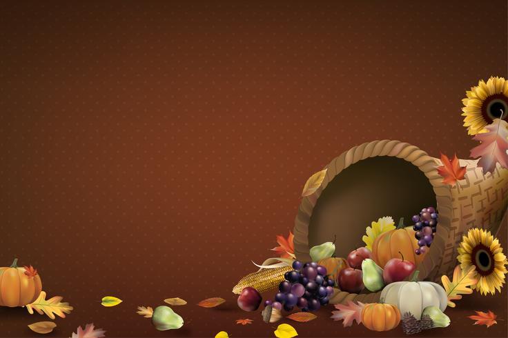 Illustration of thanksgiving festival