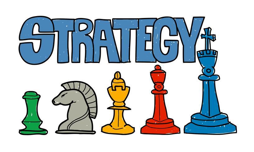 Ilustración de la estrategia empresarial.