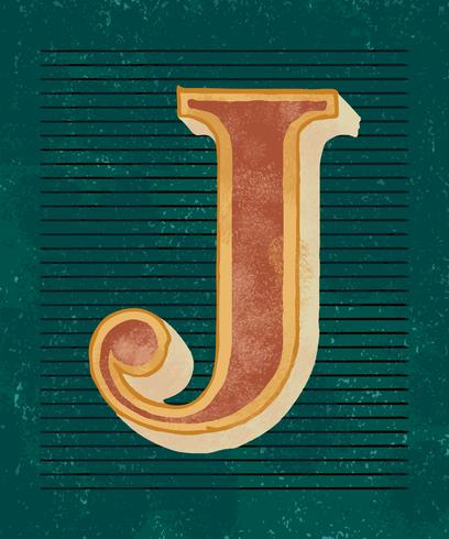 Stile vintage tipografia lettera maiuscola