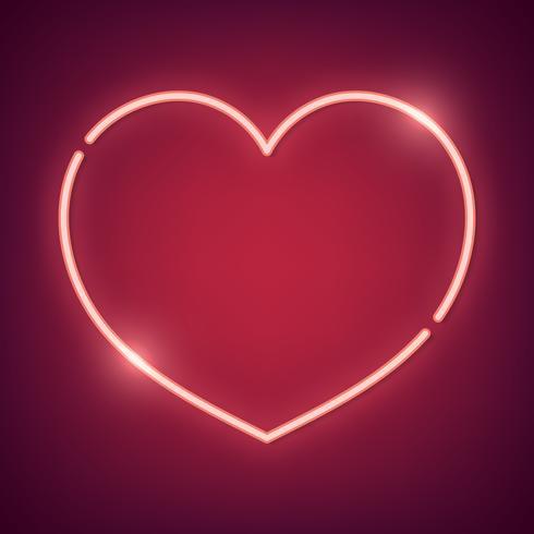 Neon hjärta illustration
