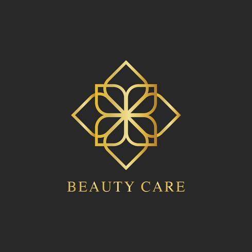 Beauty care design logo vector
