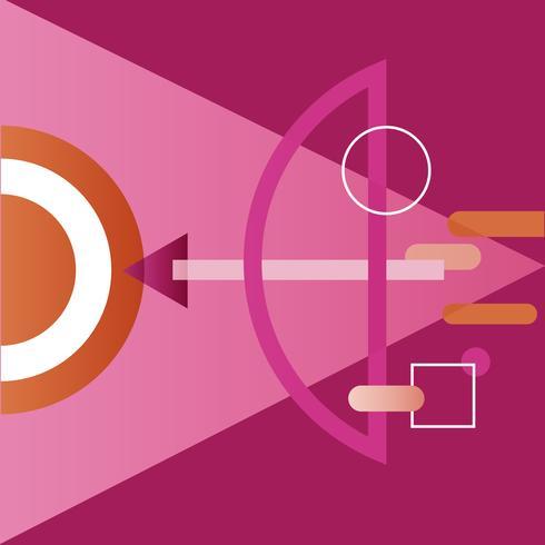 Illustration de la flèche de visée