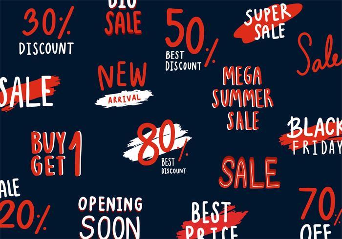 Sammlung von Verkaufs- und Rabattvektoren