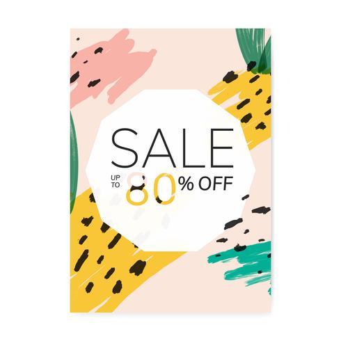 Ilustración de diseño de venta de verano de Memphis