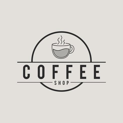 Illustration de l'icône de concept de café
