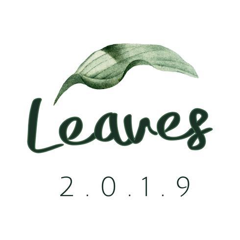 Leaves 2019 logo design vector