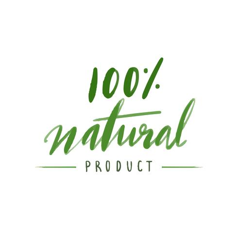 Natural product typography vector in green