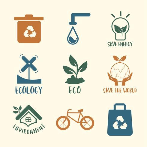 Ecologische instandhouding symbool ingesteld afbeelding