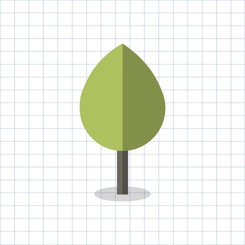 Illustration of a geometric shaped tree