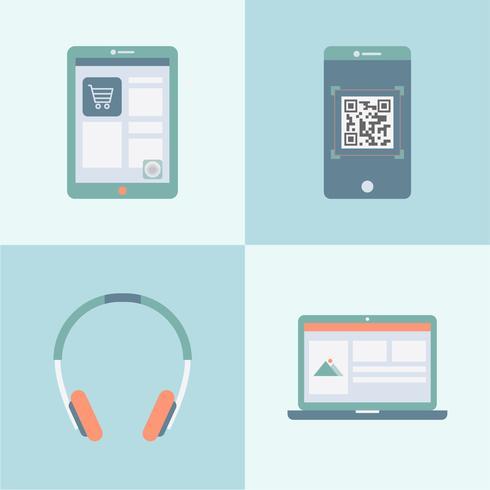 Set verschiedene moderne Geräte und Geräte