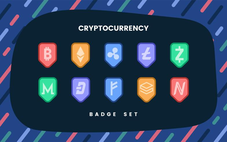 Set of various cryptocurrencies electronic cash symbol vector