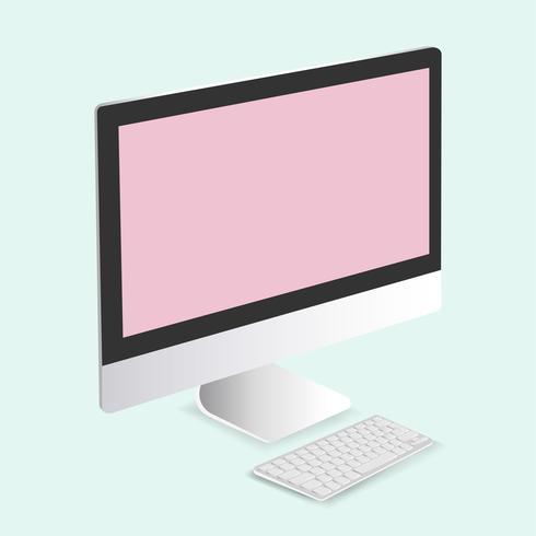 Vector of computer monitor icon