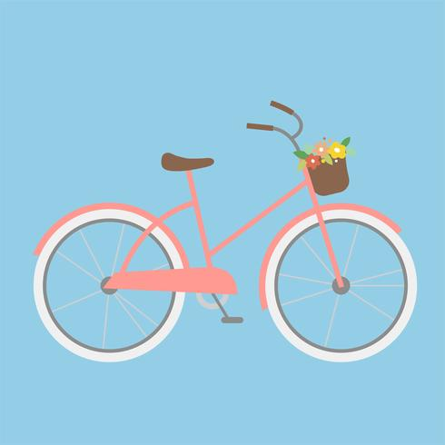 Simple illustration of a girly bicycle