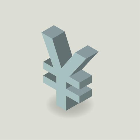 Icono de vector de símbolo de moneda de yen japonés