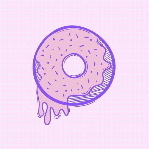 Vector of doughnut icon