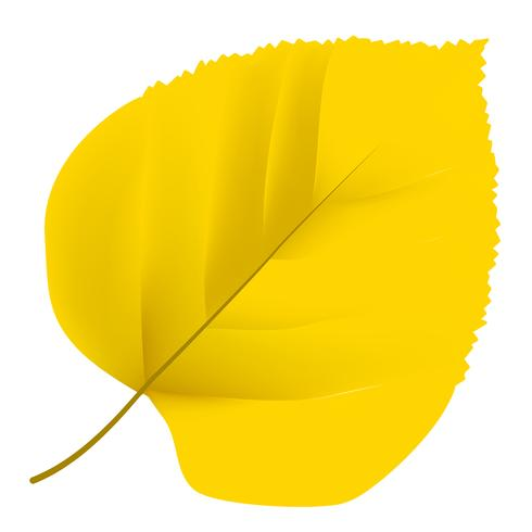 Arbre jaune 3D
