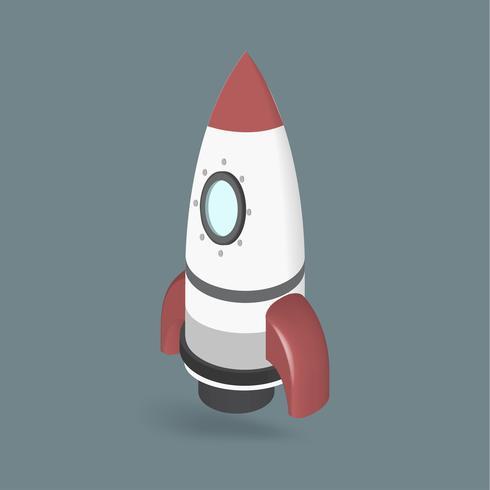 Vector van raketschip pictogram