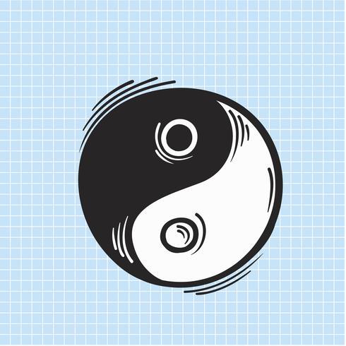 Vector de icono de yin yang