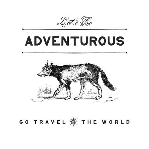 Avontuurlijke reis logo ontwerp vector