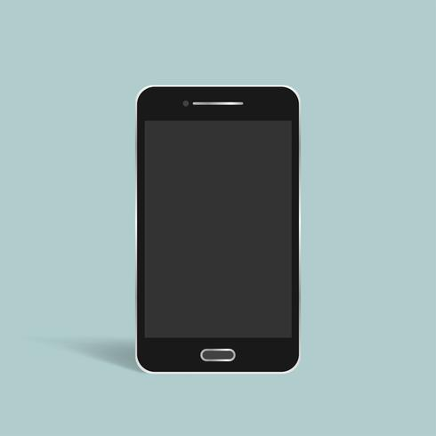 Vecteur d'icône de téléphone intelligent 3D sur fond