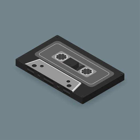 Image vectorielle d'icône cassette