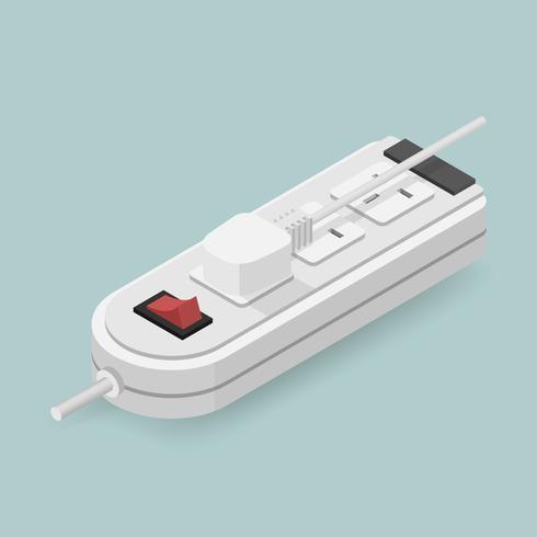 Icono de vector de enchufe eléctrico