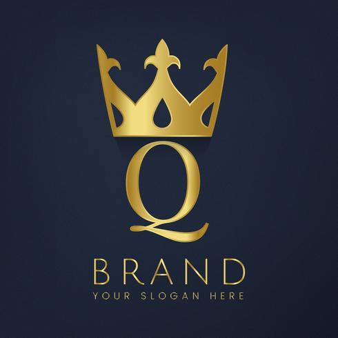 Vetor criativo da marca Premium Q