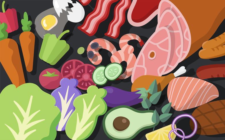 Matlagning ingredienser vektor uppsättning illustration