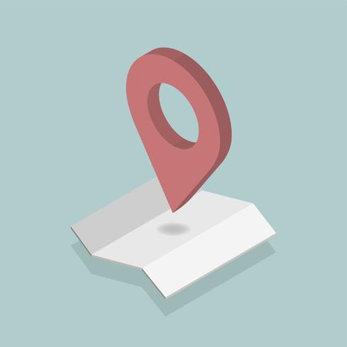 Vektor der GPS-Navigationsikone