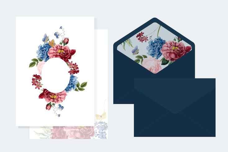 Blumeneinladungskarten-Modellillustration