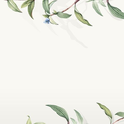 Grünes botanisches Blatthintergrunddesign