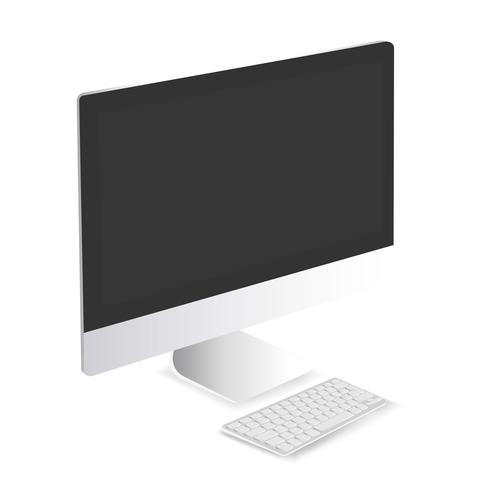 Vector of computer and keyboard icon