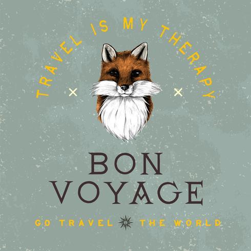 Bon voyage logo design vettoriale