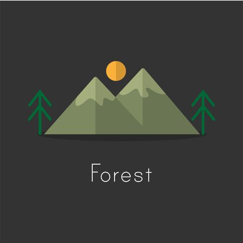 Estilo de dibujo de ilustración de la colección de iconos de camping. vector
