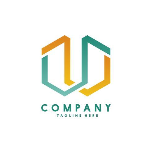 Vector de diseño de logotipo de empresa moderna