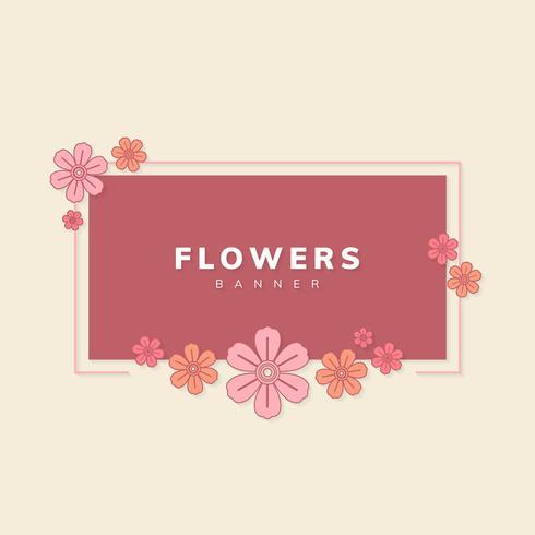 Blumenfahnenvektor