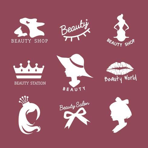 Set van schoonheidssalon pictogram vectoren