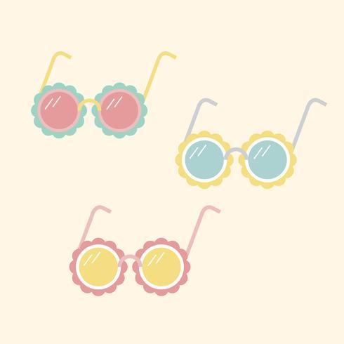 Illustratie van girly zonnebril