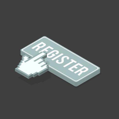 Immagine vettoriale dell'icona della barra di registro