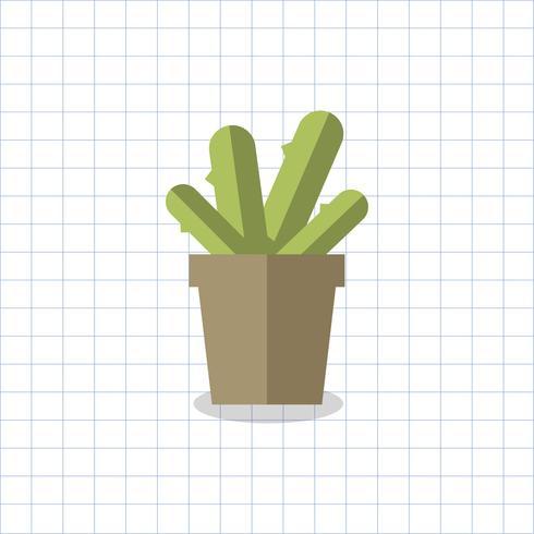 Kaktuspflanze in einem Topfvektor