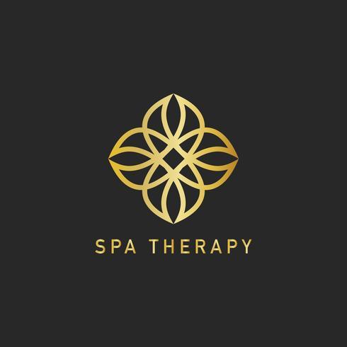 Spa therapie ontwerp logo vector