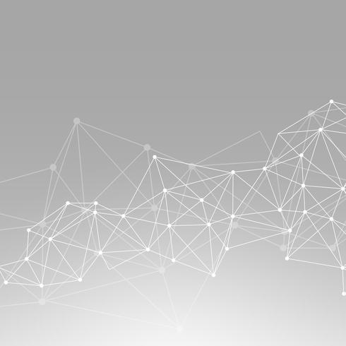 Graue neuronale Netzillustration