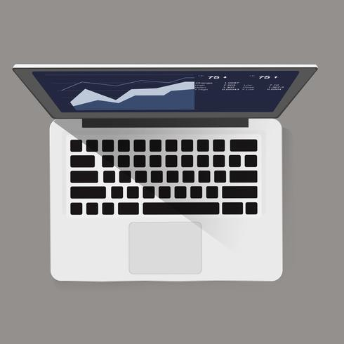 Illustration of computer laptop isolated