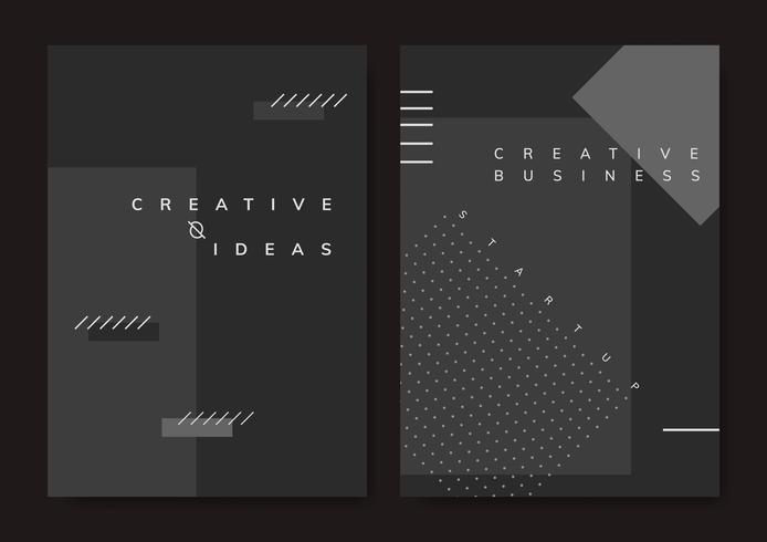 Set van minimale Memphis ontwerp opstarten poster vector